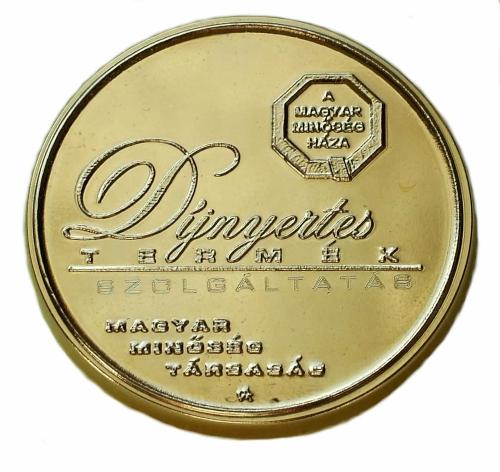 Magyar Minőség Háza díj 2019 érme
