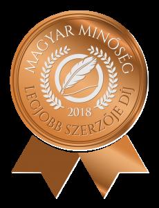 Magyar Minőség Legjobb szerzője 2018 díj logó