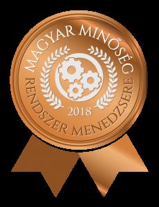 Magyar Minőség irányítási rendszermenedzsere díj 2018. logó