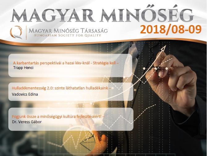 Magyar Minőség 2018. augusztus-szeptemberi címlap