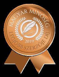 Magyar Minőség Legjobb szerzője 2019.